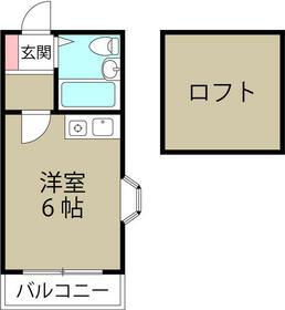 ミカサ富士見第二・0203号室の間取り