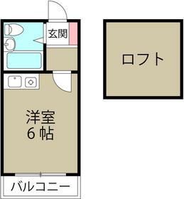 ミカサ富士見第一 0103号室の間取り