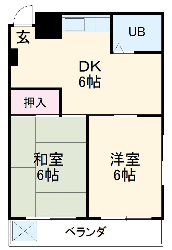 三澤ハイツ 202号室の間取り
