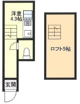 第5ひばりマンション・308号室の間取り
