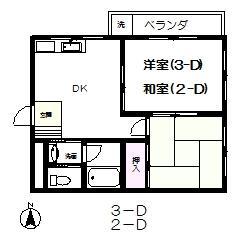 Mビル 3-D号室の間取り