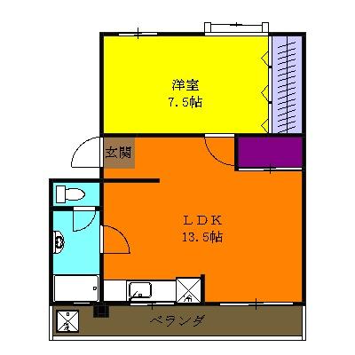 小柳マンション・205号室の間取り