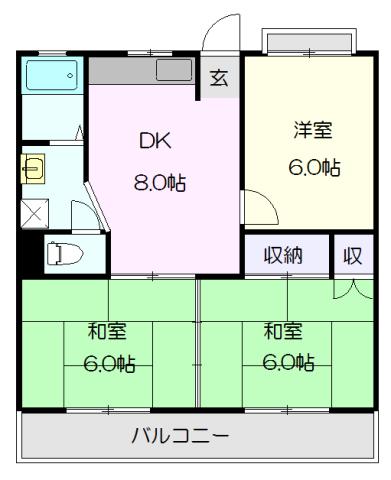 CORPO SHINYASHIKI・301号室の間取り