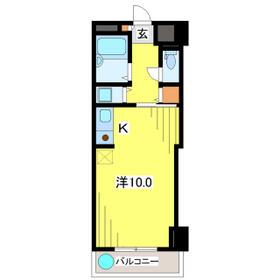 日本橋箱崎ハイツ・605号室の間取り