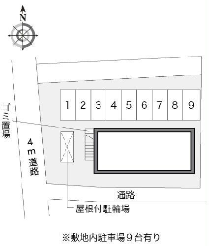 レオパレスT.HOUSE 201号室の駐車場