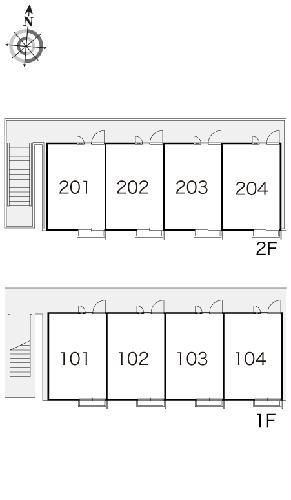 レオパレスクラージュ 202号室のキッチン