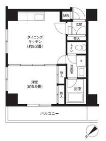 三敬中洲マンション・205号室の間取り