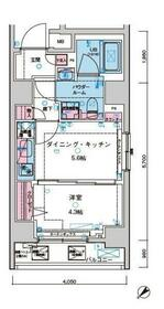 ジェノヴィア水天宮前Ⅱスカイガーデン・401号室の間取り