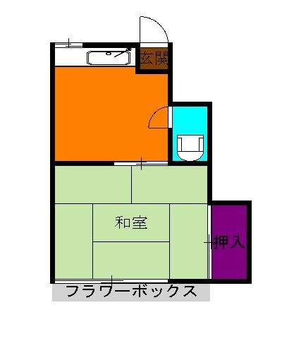遠藤荘・206号室の間取り