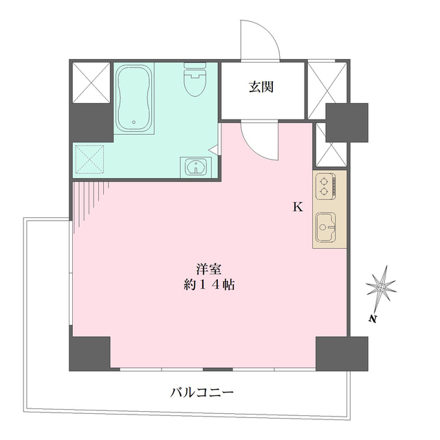 松濤パークハウス・605号室の間取り