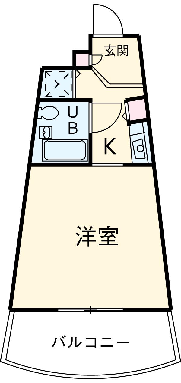 ライオンズテラス武蔵小金井 239号室の間取り