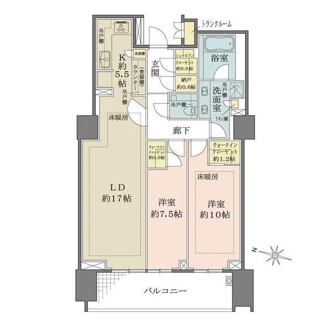 ザ・パークハウス渋谷南平台・307号室の間取り