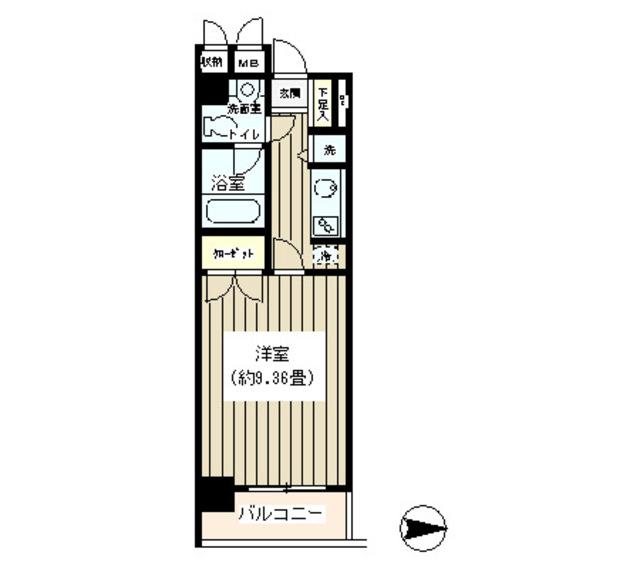 NONA PLACE渋谷神山町・103号室の間取り