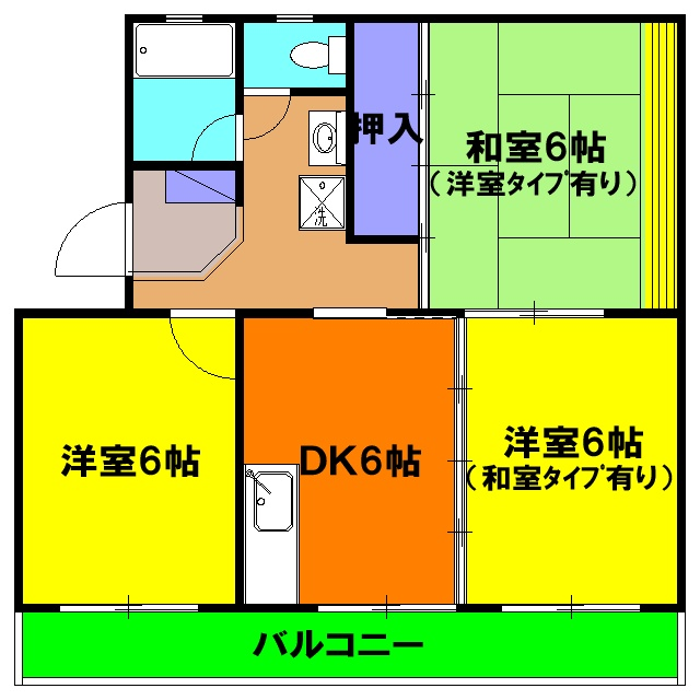 ビクトリーマンション・303号室の間取り