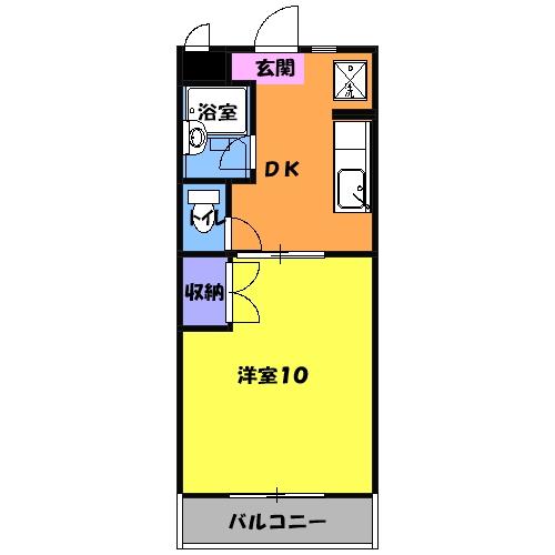 マンションアトランティスⅡ・102号室の間取り