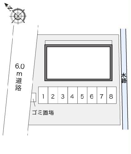 レオパレス神田Ⅱ 203号室の駐車場