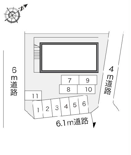 レオパレスフレンズ 101号室の駐車場