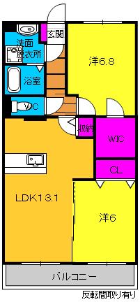 ラディアント・302号室の間取り