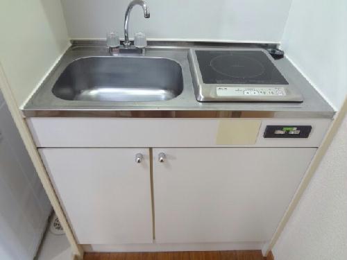 レオパレス廣岡 104号室のキッチン