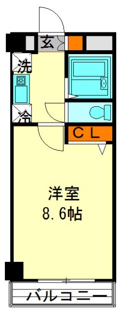 阿部松島マンション・406号室の間取り
