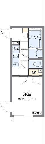 クレイノ東新宿・104号室の間取り