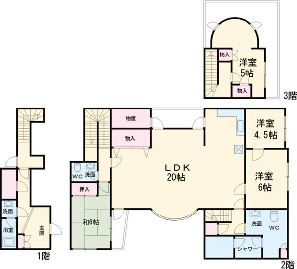桜台コートハウス・102号室の間取り