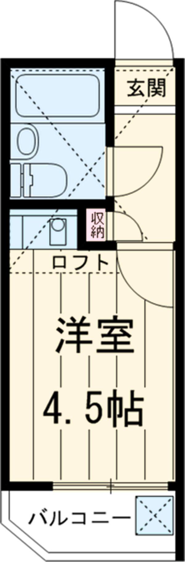 エクセレント21石神井公園 202号室の間取り