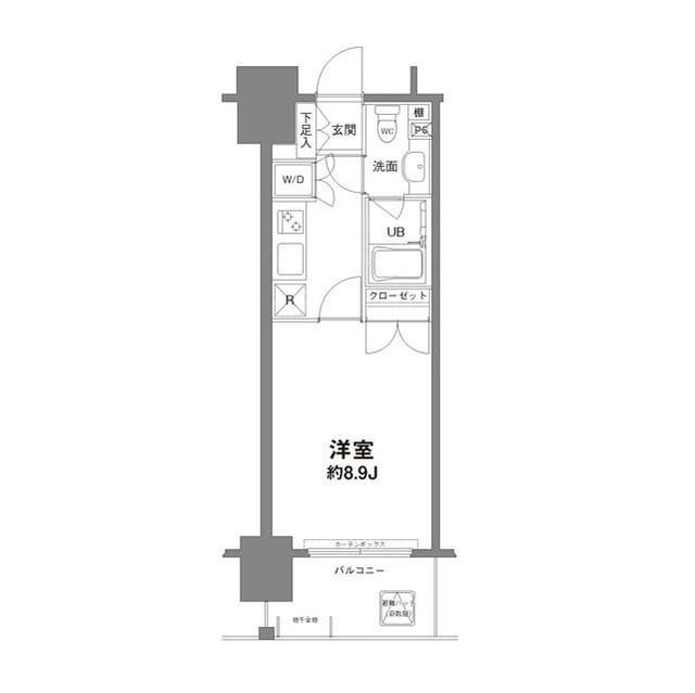 コンフォリア新宿御苑Ⅰ・0303号室の間取り