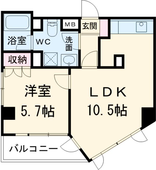 ヴィルラフィーネ東新宿・1004号室の間取り