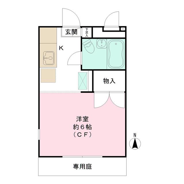 リッツハウス新宿・101号室の間取り