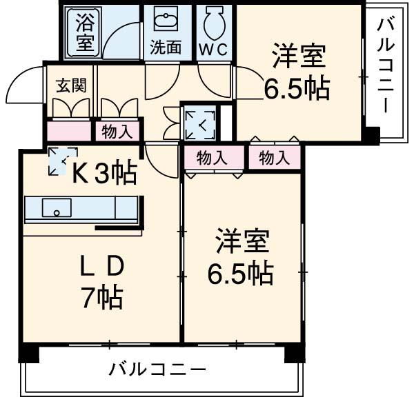 ヴィルラフィーネ東新宿・703号室の間取り