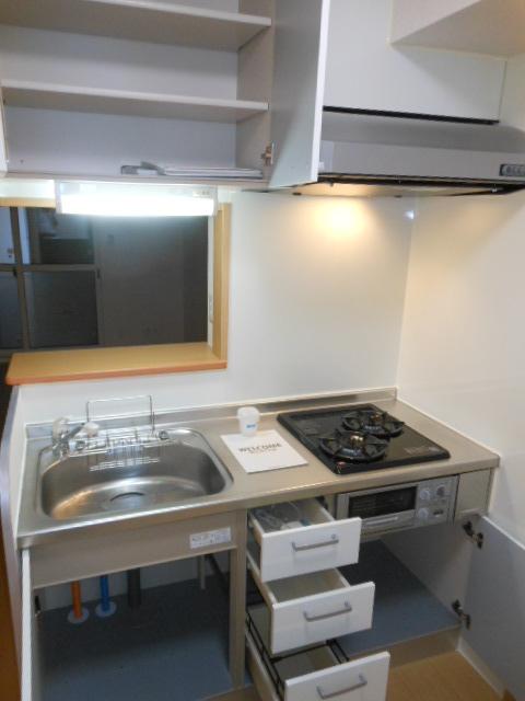 グリーンヒル 210号室のキッチン