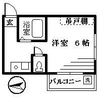 エメラルドマンションⅠ・301号室の間取り