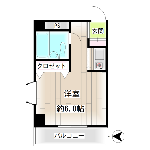 第22新井ビル・0304号室の間取り