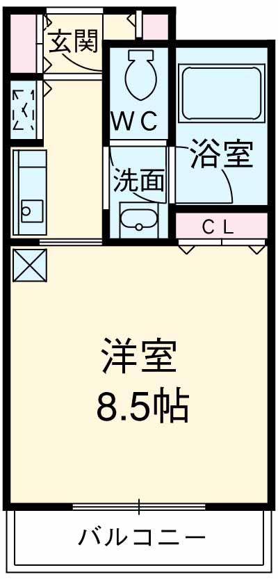 コンフォート荻窪・106号室の間取り