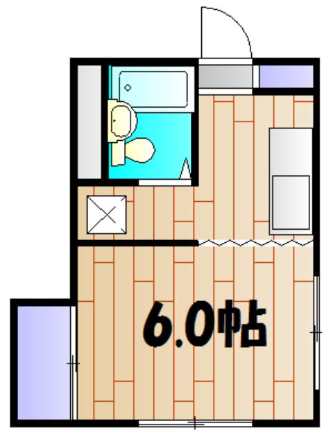 川田マンション 3A号室の間取り