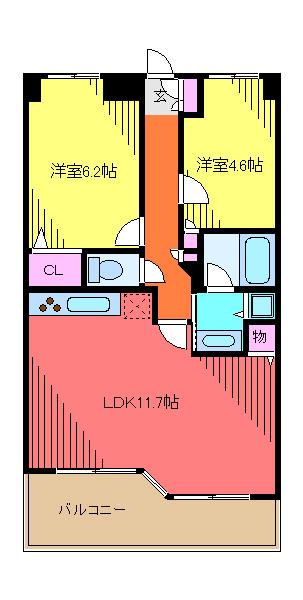 LANAI T GARDEN・504号室の間取り