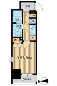 KDXレジデンス東新宿・0811号室の間取り