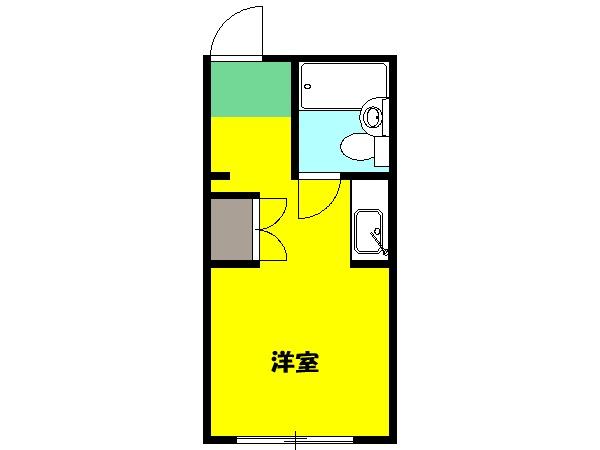 荻野荘・105号室の間取り