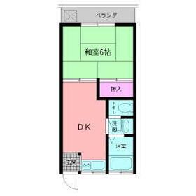 第2ハイツ太田・202号室の間取り