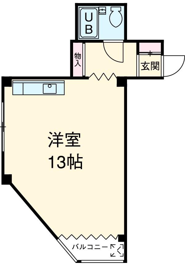 第2恩田ビル 205号室の間取り