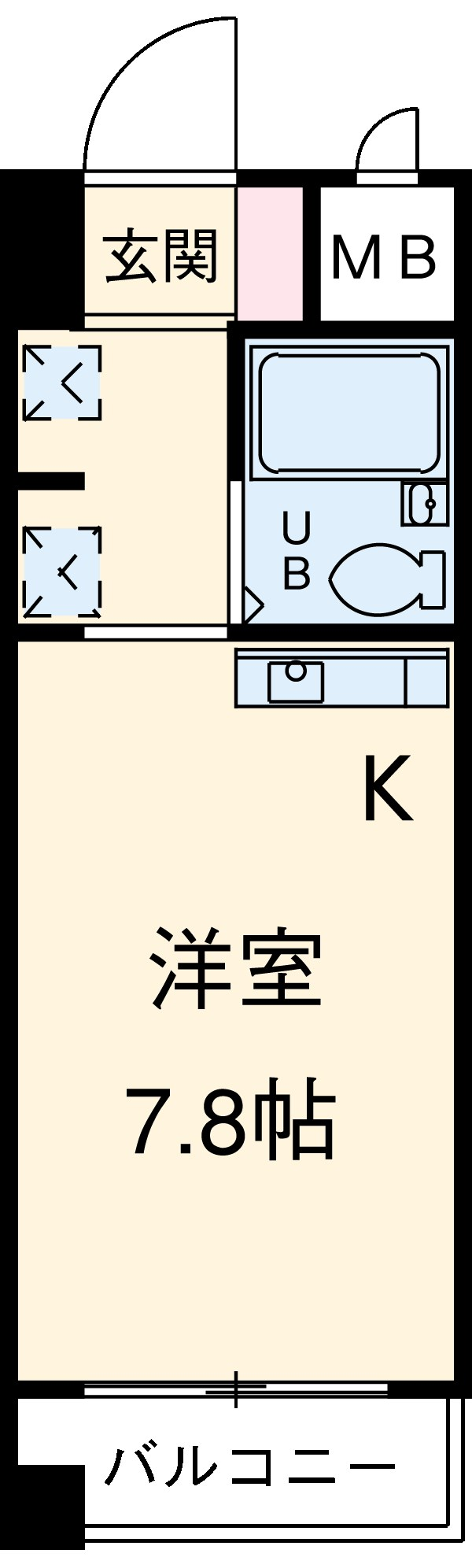 Komodokasa Miwa 301号室の間取り