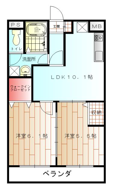 リバーサイド大澤・303号室の間取り