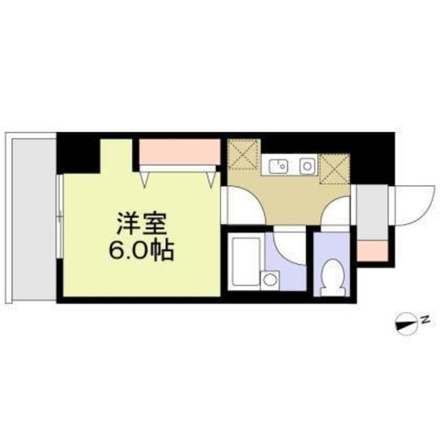 アレンダール大須・704号室の間取り