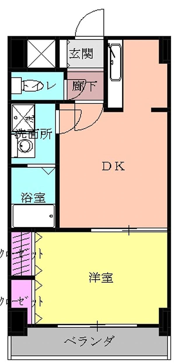 アンシャンテ車道 503号室の間取り