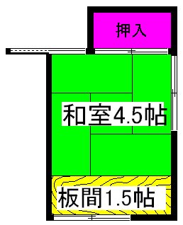 第一柴田荘・2号室の間取り