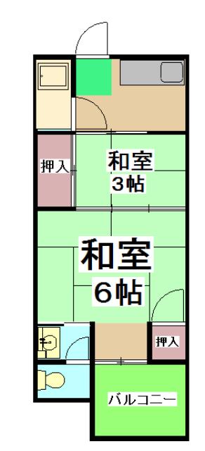 山田ハイツ・11号室の間取り
