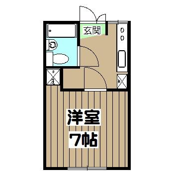 谷口ビル・22号室の間取り