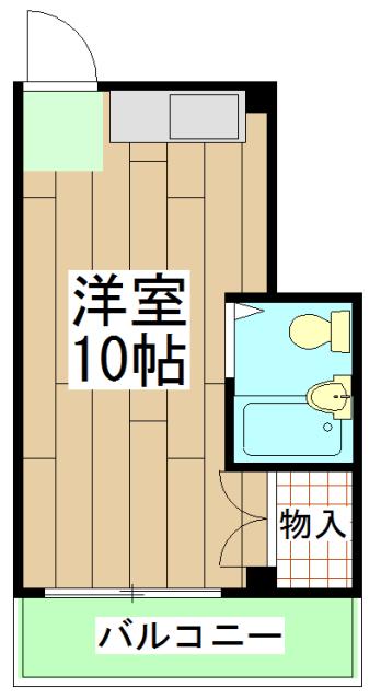 ル・松尾 204号室の間取り