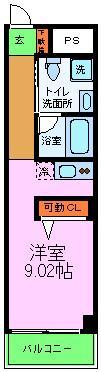 G-Design京都西院・206号室の間取り